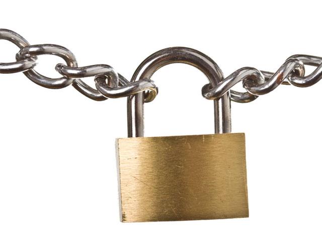Cadeados e correntes em Farroupillha